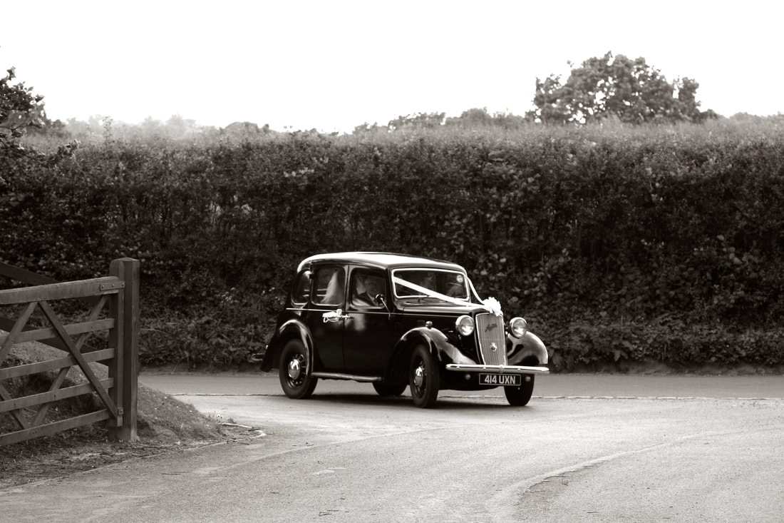 Vintage wedding car photo by Fiona McLean Photography on Rachel Head Humanist Wedding Celebrant website